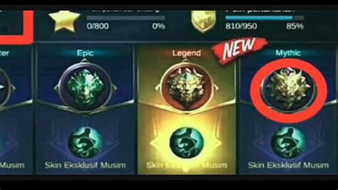 mobile legend rank new rank mythic tier mobile legends