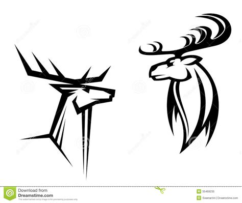 deer mascots royalty free stock photo image 35469235