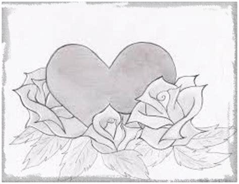 imagenes chidas lapiz imagenes a lapiz de corazones para enamorados dibujos de