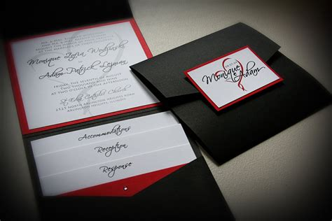 wedding invitation design red best album of red and black wedding invitations