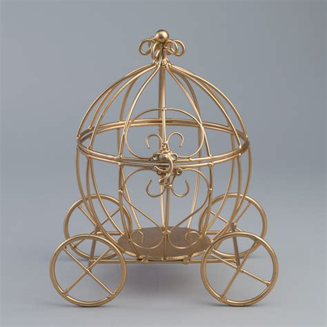 11 5 quot gold cinderella pumpkin carriage wedding centerpiece