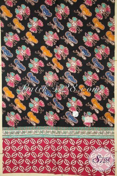 Batik Monocrom Hitam Sarimbit Batik Atasan batik kain dasar hitam motif kupu kupu batik cap tulis