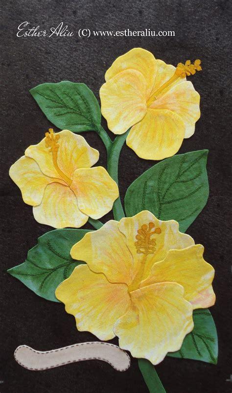 floral applique block detail from my floral applique quilt quot forget me not