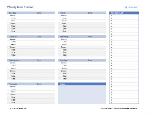 family menu planner template a printable menu planner or use a weekly or