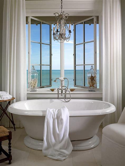nice Beach Theme Decorating Ideas #5: Apothecary-jars-with-starfish-add-to-the-beach-style-of-the-bathroom.jpg