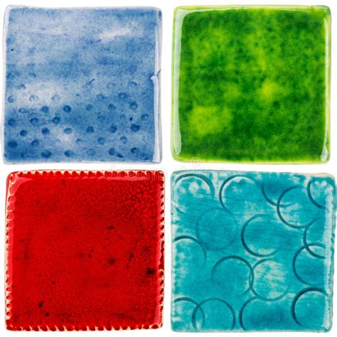 piastrelle fatte a mano piastrelle di ceramica fatte a mano immagine stock