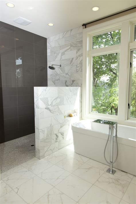 Showers Without Glass Doors Walk In Shower Without Door In Recent Homesfeed