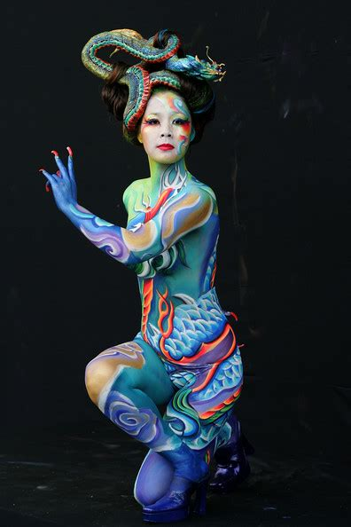 world bodypainting festival pics painting show world painting festival asia part 2