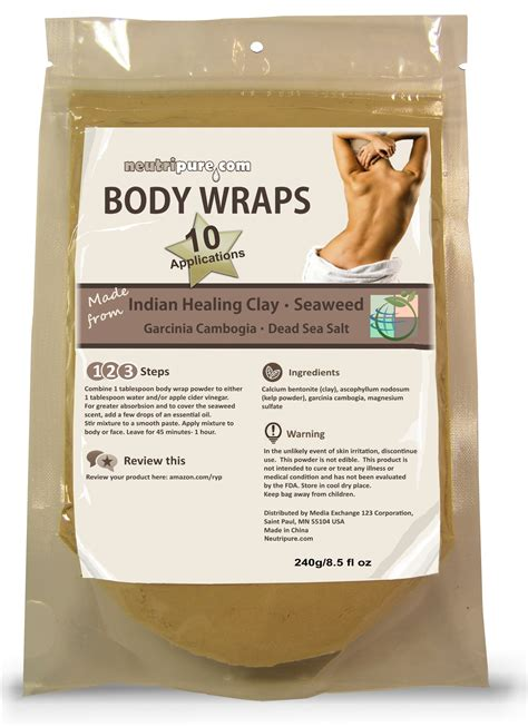 Volcanic Ash Clay Detox Wrap by Diy Slimming Wrap Spa Formula Seaweed Clay