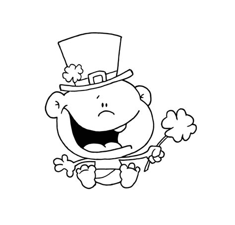 baby leprechaun coloring page st patrick s day doodle toy theater educational games