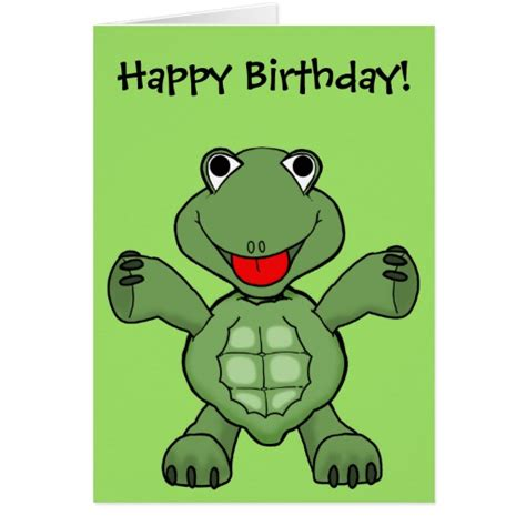 Turtle Birthday Card Turtle Birthday Greeting Cards Zazzle
