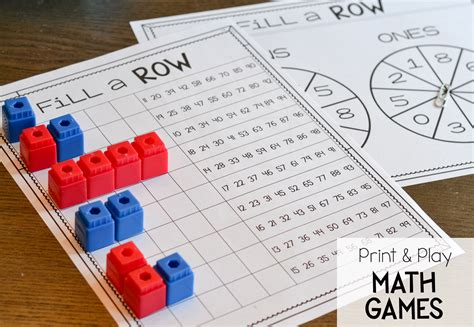 printable math games on place value place value print and play games susan jones
