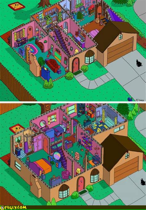 simpsons house a map of the simpsons house
