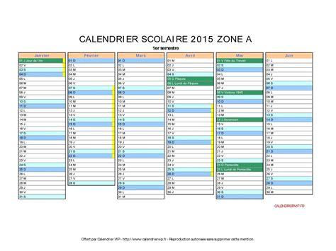 Zone B Calendrier 2015 Calendrier Scolaire 2015 224 Imprimer Gratuit En Pdf Et Excel