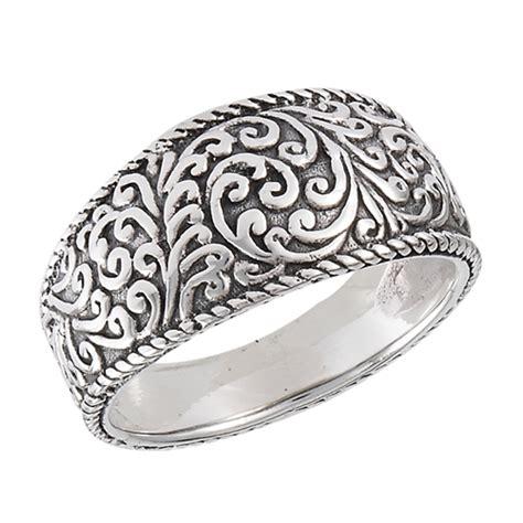 sterling silver heavy tibetan filigree ring