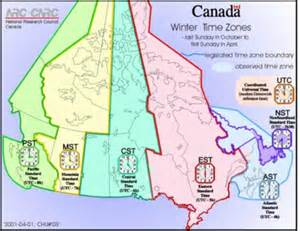 time zones in canadamysteries of canada