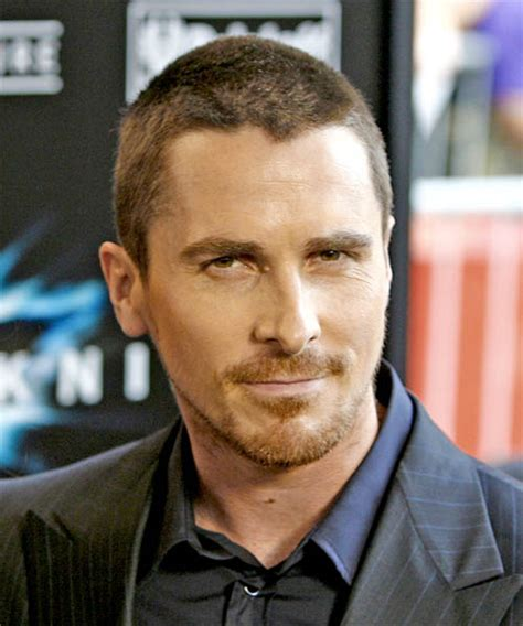 how to trim your hair lile bale christian bale short straight casual hairstyle christian