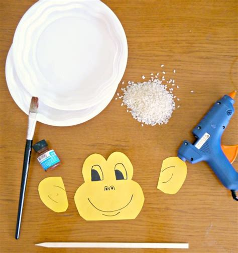 How To Make A Paper Monkey - monkey plate shaker for new year s make and takes