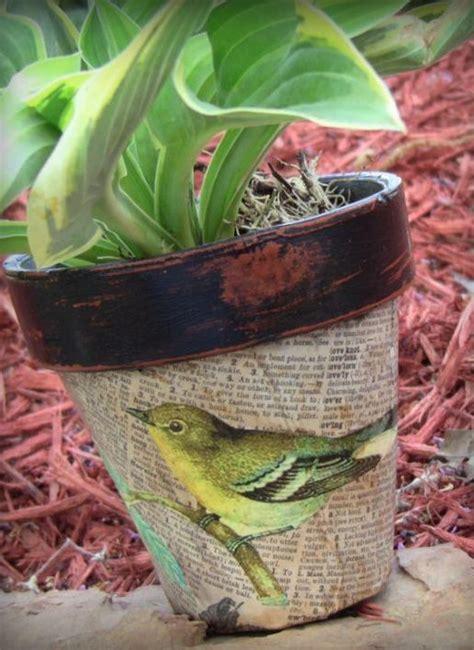 decoupage clay pots ideas best 25 decoupage ideas ideas on decoupage
