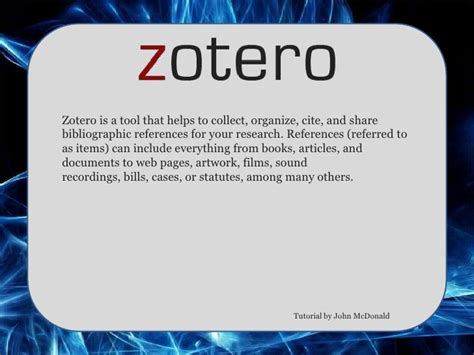 zotero guide tutorial zotero tutorial presentation