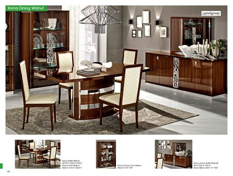 Dining Room Sets Made In Italy Roma Dining Room Set By Alf Walnut Made In Italy Buy