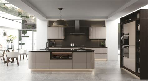 www kitchen collection strada handleless lacquer gloss