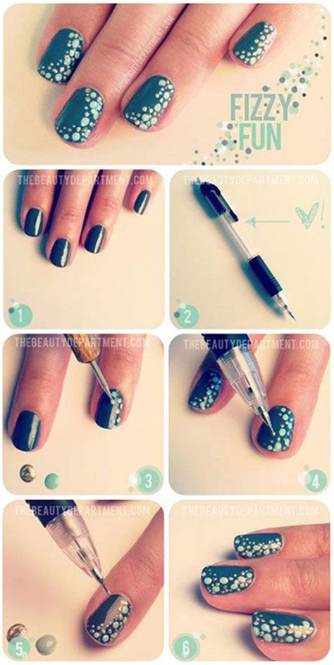 easy nail art for beginners 7 20 easy simple christmas nail art tutorials for