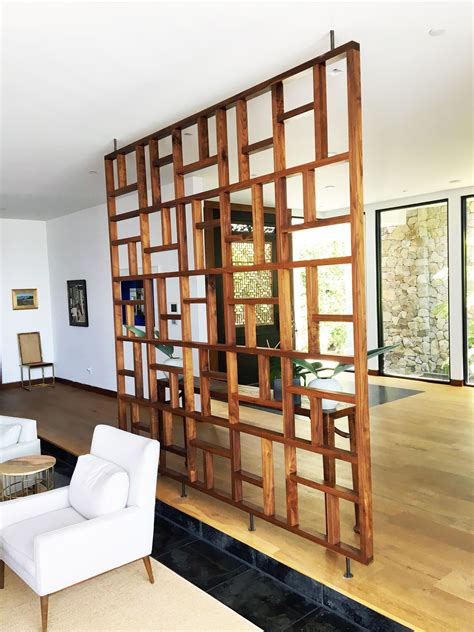 Handmade Solid Wood Geometric Room Screen Room Divider 2 Sliding French Doors To Consider