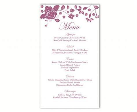 Wedding Menu Card Template Word by Wedding Menu Template Diy Menu Card Template Editable Text