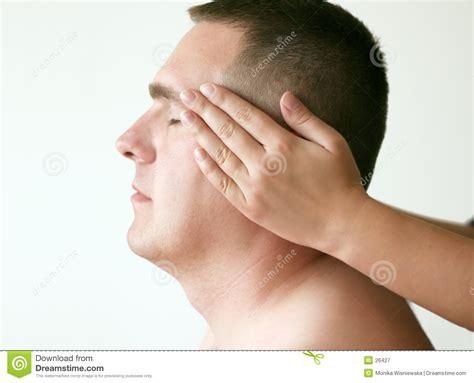 pressione alla testa acupressure testa immagine stock immagine di