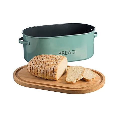 bread box bed bath and beyond typhoon 174 summer house bread box in blue bed bath beyond