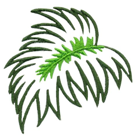 palm branch template jungle leaf template cliparts co