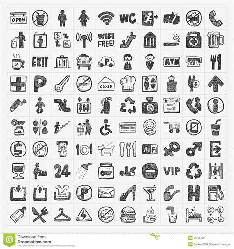 vector doodle sign doodle sign icon stock photography image 38185202