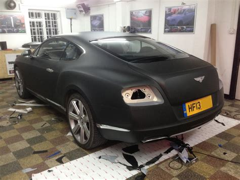 matte blue bentley bentley continental gt wrapped matte black wrapping cars