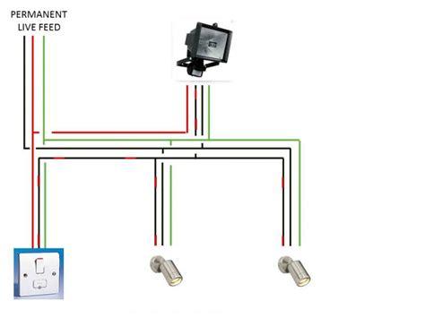 pir flood light wiring diagram circuit and schematics