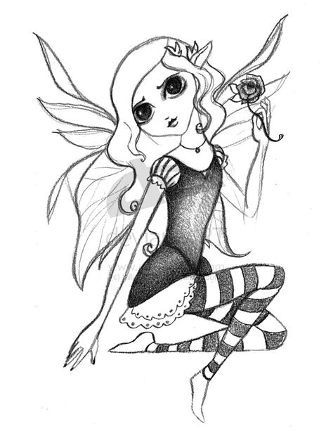 pin gothic pencil drawings fairies coloring pages ajilbab