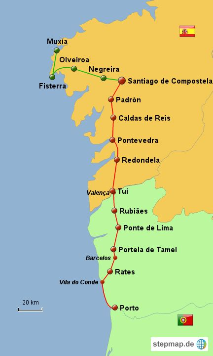 Camino Walk Route by Camino Portugues My And I Are Planning To Walk