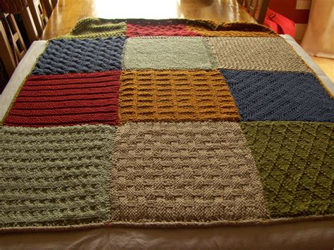 how to knit a square in the knitted squares blanket a skien and pattern sent every