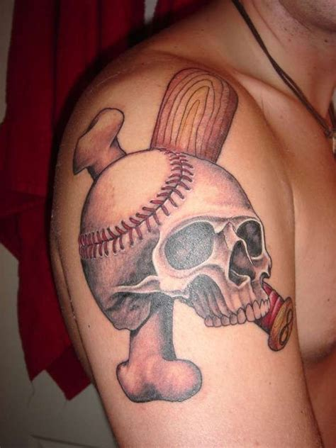 cool baseball tattoos 73 stylish skull shoulder tattoos
