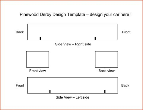 free templates for pinewood derby cars online calendar