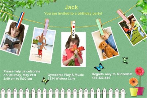 Birthday Card Template Photoshop by Birthday Invitations 304 5psd Photo