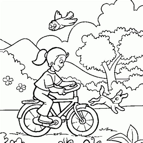 free coloring pages of duck on a bike