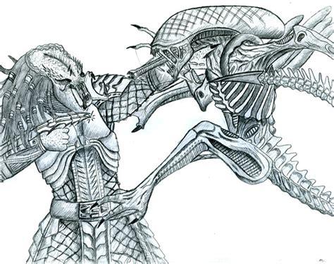 vs predator drawings versus predator drawing pictures to pin on