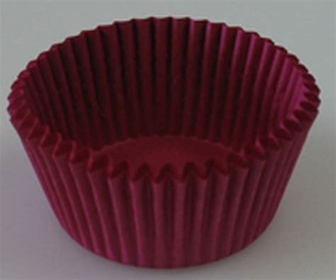 burgundy mini cupcake liner