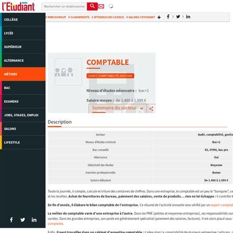 Travailler En Cabinet D Expertise Comptable by Comptable La Fiche M 233 Tier De L Etudiant Pearltrees