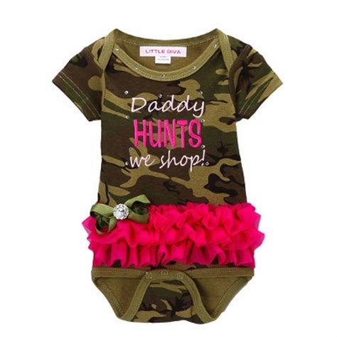 baby pink black brown green camouflage print hair baby boutique onesies rompers for infants toddlers