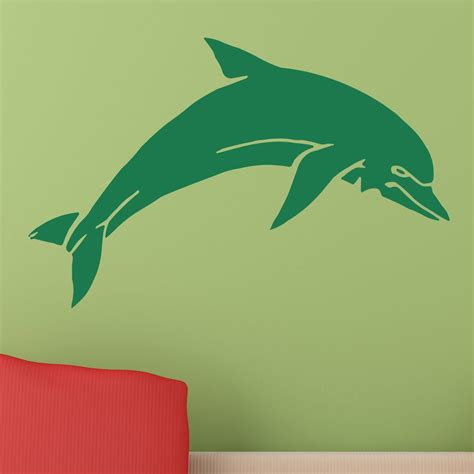 Dolphin Wall Sticker jumping dolphin animal wall sticker world of wall stickers