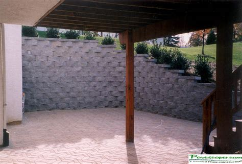walk out basement design deck storage design photo gallery gt residential commercial retaining walls patio