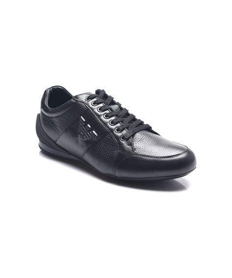 armani sneakers mens emporio armani emporio armani s leather ga logo