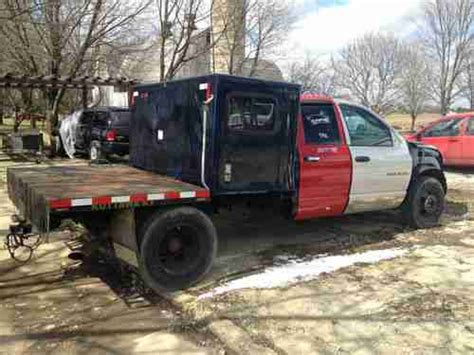 Dodge 3500 Sleeper by Buy Used 2003 Dodge Ram 3500 With Sleeper Flatbed 5 9l